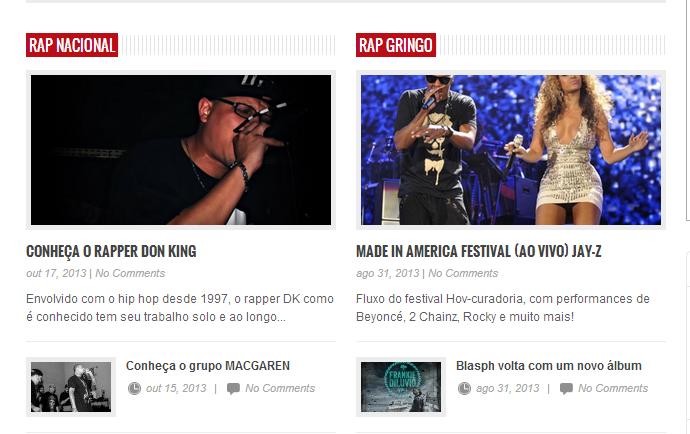 Matéria no Jornal do Rap